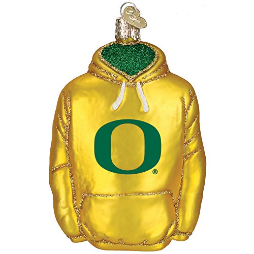 Mouth-Blown Glass College Hoodie Keepsake Christmas Ornament – Oregon