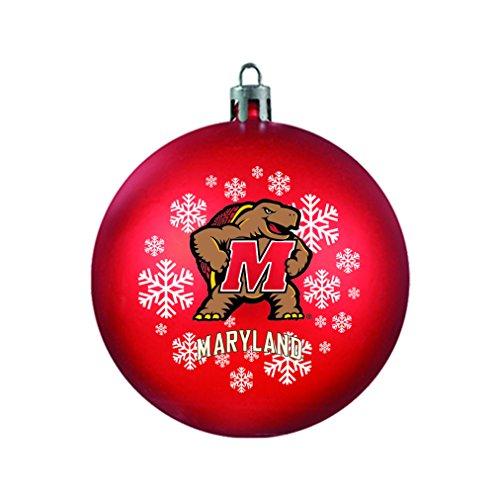 NCAA Maryland Terrapins Shatterproof Ball Ornament, 3.125″, Red
