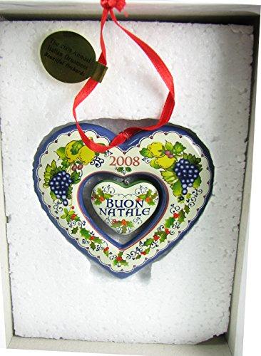 2008 Danbury Mint Italian Heart Christmas Ornament