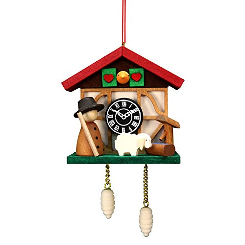 "10-0567 – Christian Ulbricht Ornament – Cuckoo Clock Sheep – 4.5″""H x 2.5″""W x 1.5″""D"