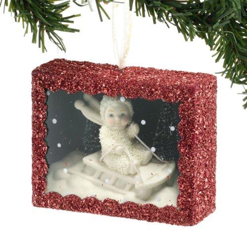 Snowbabies Snowy Sledding Box Ornament, 3.5-Inch