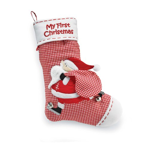 Mud Pie 16″ x 11″ My First Stocking (Discontinued by Manufacturer)