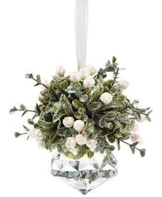 Ganz White Kissing Krystal Mini Ornament