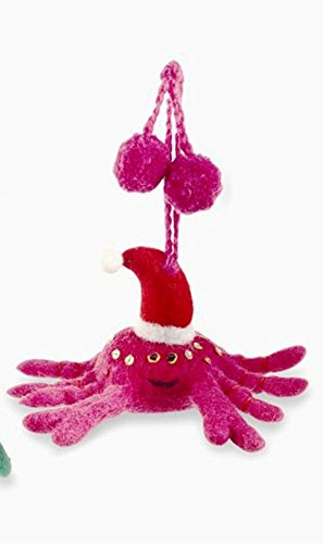 Mud Pie Christmas Collection Felt Sea Ornament, Choice of Style (Crab)