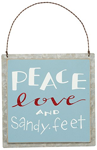 Primitives By Kathy Peace Love Sandy Feet Ornament Multi