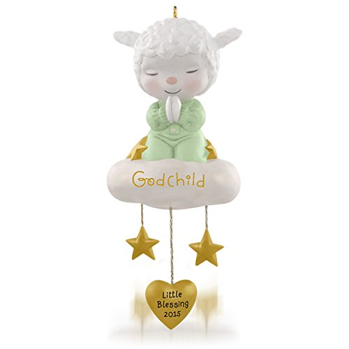 Hallmark Keepsake Ornament: Sweet Little Lamb of Faith Godchild
