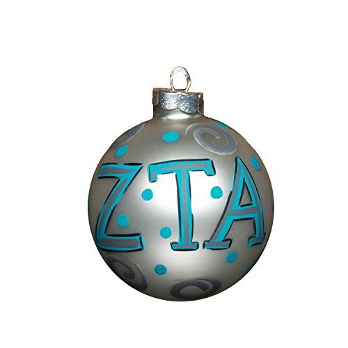 Glory Haus Zeta Tau Alpha Glass Ornament, 4-Inch