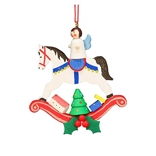 ULBR 10-0604 Christian Ulbricht Ornament – Angel on Rocking Horse