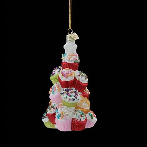 Kurt Adler 4.5″ Noble Gems Glass Cupcake Tree Ornament