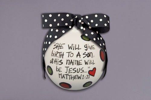 """""""Birth to a Son"""" Holiday Ornament"""