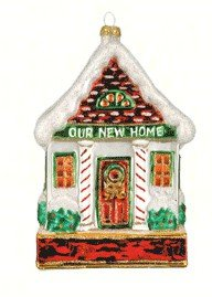 Margaret Cobane Glass Ornament – Our New Home Red And Green