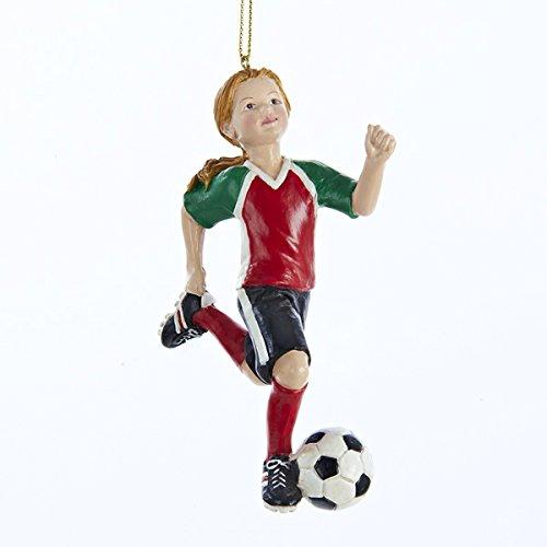 Kurt Adler 4″ Resin Soccer Girl Ornament #C8885G