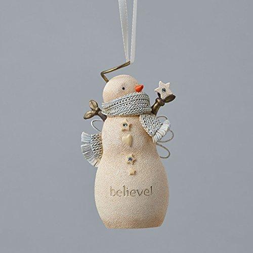 Enesco Foundations Believe Snowman Ornament 2.99 IN