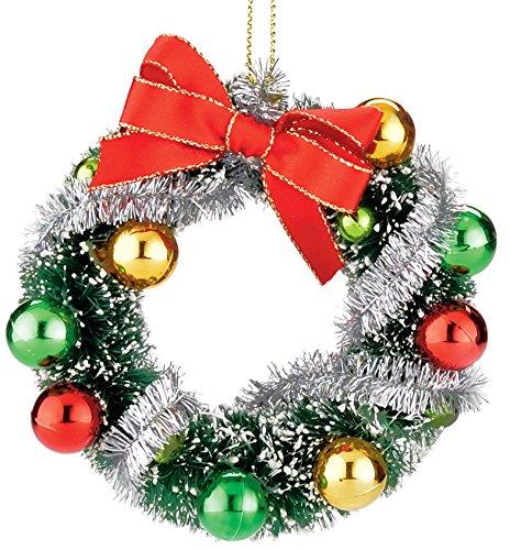 Department 56 Here Comes Santa Claus Retro Wreath Ornament