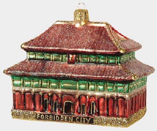 Forbidden City Poland Glass Christmas Ornament