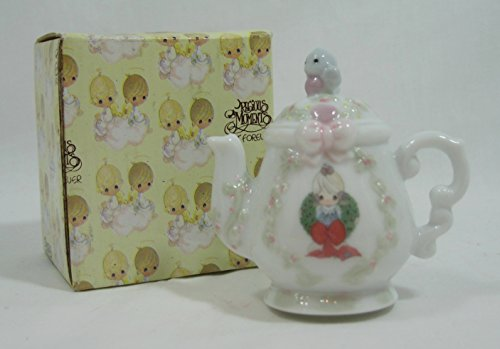 """1994 Precious Moments """"Girl with Wreath Teapot Shape Hanging Ornament"""" #340324l"""