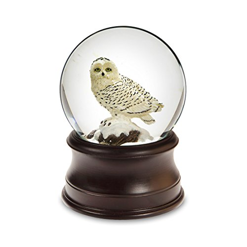 Snowy Owl Snow Globe by San Francisco Music Box