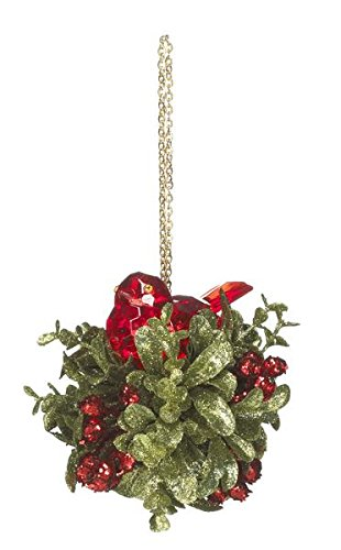 Kissing Krystals Classic Red Nesting Bird Christmas Ornament – By Ganz