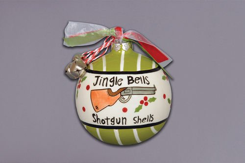 """Jingle Bells and Shotgun Shells"" Christmas Ornament"