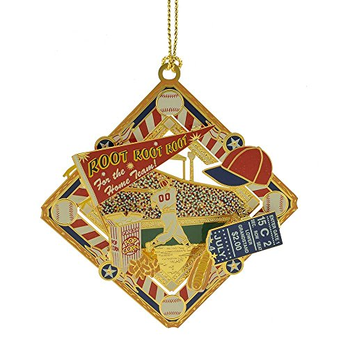 ChemArt Old Time Baseball Collage Ornament