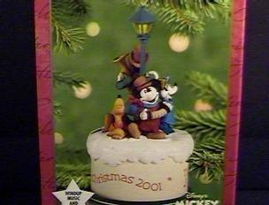 QXD7585 Disney Merry Carolers Mickey & Co. 2001 Hallmark Keepsake Ornament