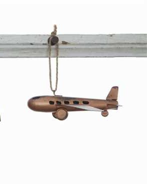 Copper Classic Airplane Christmas Tree Ornament