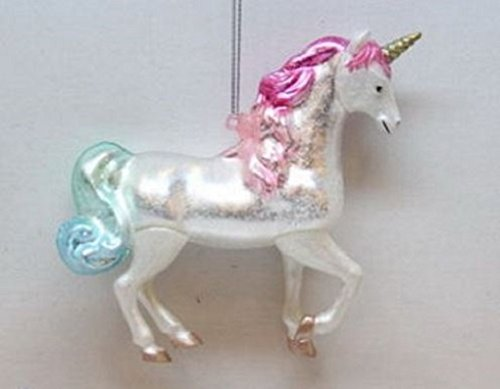 December Diamonds Blown Glass Ornament – Unicorn
