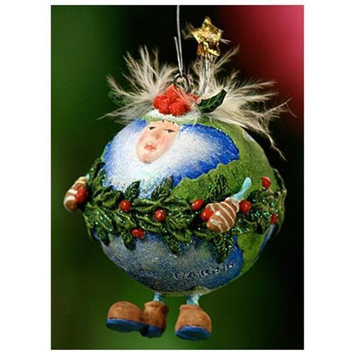 Patience Brewster Mini Ornament – Peace On Earth