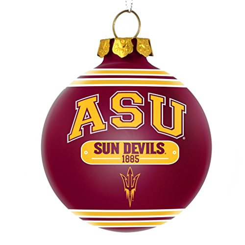 Arizona State Sun Devils Official NCAA 2014 Christmas Glass Ball Ornament by Forever Collectibles 689760