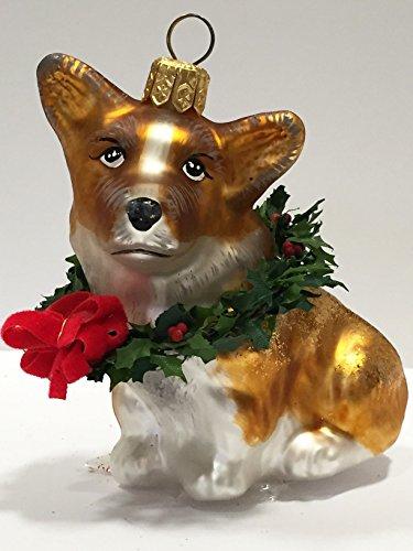 Ornaments to Remember: CORGI PUPPY (Xmas Wreath) Christmas Ornament