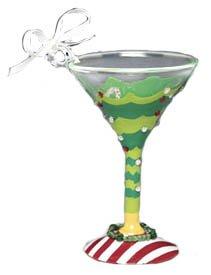 Lolita Martini Glass Christmas Ornament Tipsy Christmas