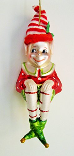 7 in Impish Sitting Elf with Pointy Ears and Shoes by Mark Roberts