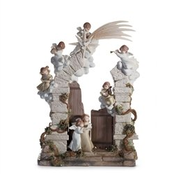 Lladro Porcelain Figurine The Stable In Bethlehem
