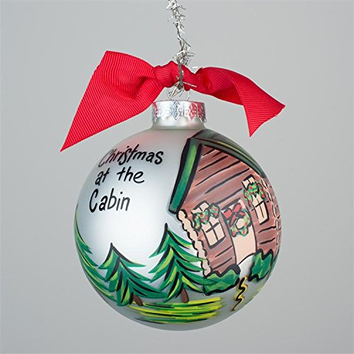 Glory Haus Christmas at the Cabin Glass Ornament, 4-inch