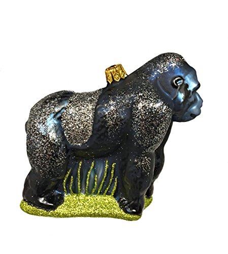 Gorilla Monkey Polish Mouth Blown Glass Christmas Ornament