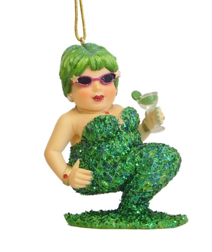December Diamonds Margarita III mermaid Green Ornament preorder