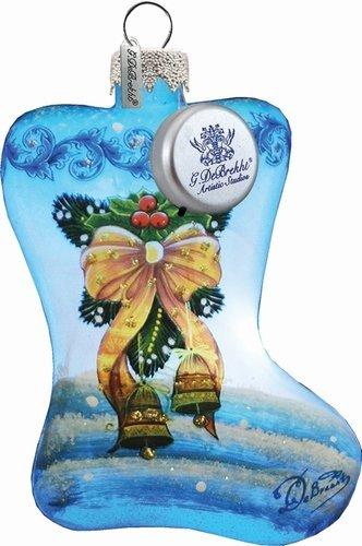G. Debrekht Bow Stocking Ornament, 3.5″