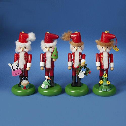 Kurt Adler Steinbach 12 Days of Christmas Nutcracker Ornament, 5.5-Inch, Set of 4