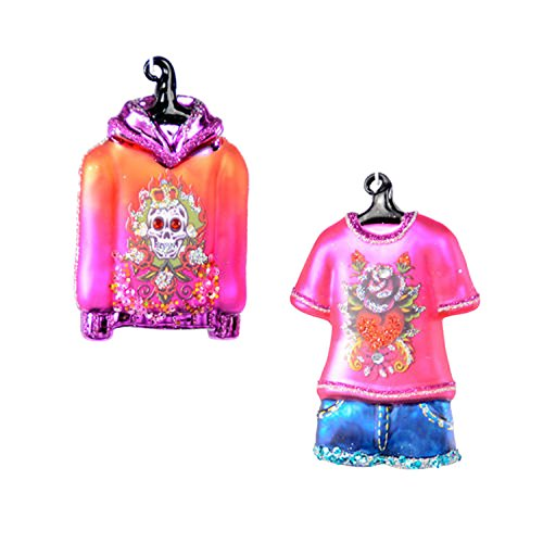 One Hundred 80 Degrees Tattoo Shirts Hanging Ornaments (Set/2)