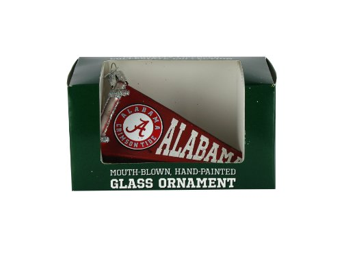 NCAA Alabama Crimson Tide Glass Pennant Ornament