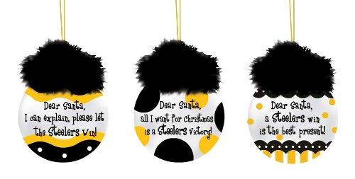 Pittsburgh Steelers Team Sayings Ornament Set