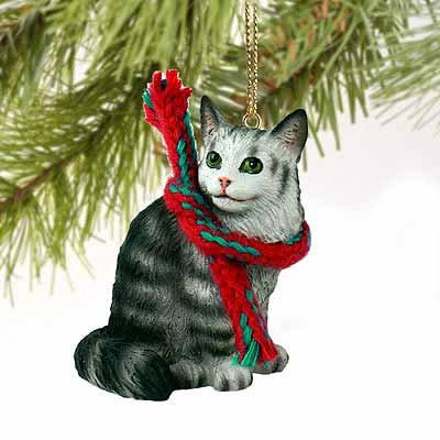 Maine Coon Cat Tiny Miniature One Christmas Ornament Silver – DELIGHTFUL!