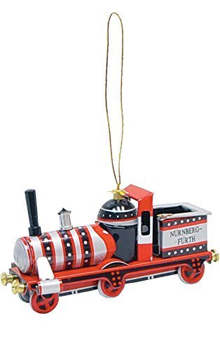 """Alexander Taron Importer AT12 – Collectible Tin Ornament – Red Train – 1″""""H x 2″""""W x 3.75″""""D by Taron Collections"""