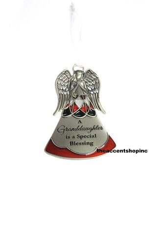 Ganz Nativity Angel Ornament-A Granddaughter is a Special Blessing (EX26856)