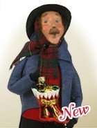 """Byers' Choice """"Man with Glass Ornaments"""" Caroler Figurine by Byers' Choice"""