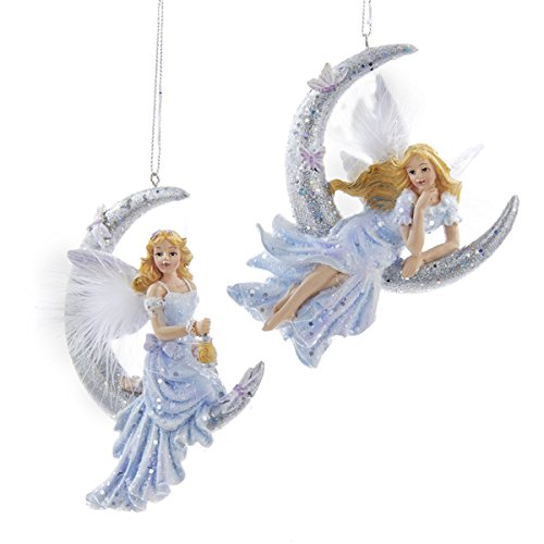 Kurt Adler Fairy ON The Moon Ornament