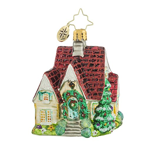 Christopher Radko Perfect Cottage Gem Glass Christmas Ornament – 2.5″h.