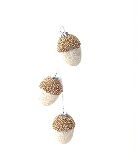 Sage & Co. XAO13896WH Triple Acorn Drop Ornament