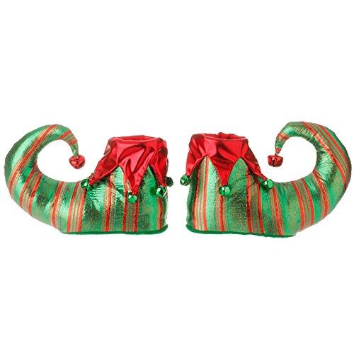 RAZ 8″ Elf Shoe Ornament – Pair of 2 shoes