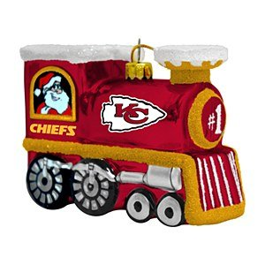 NFL Kansas City Chiefs Blown Glass Train Ornament